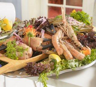 Fiske&skaldyrsbuffet<br>