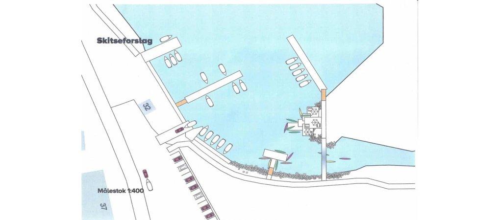Udvidelse af havnen<br>